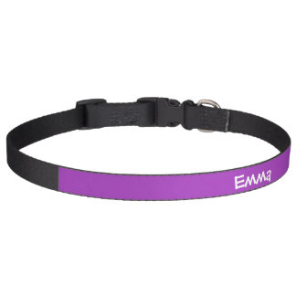 Dark Orchid Personalized Pet Collar