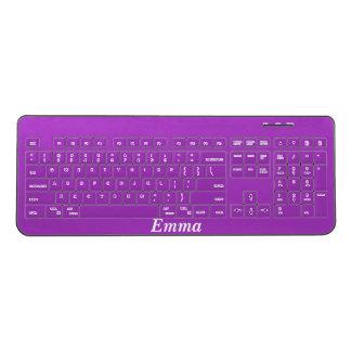 Dark Orchid Personalized Wireless Keyboard