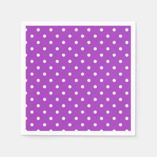 Dark Orchid Polka Dot Paper Napkins