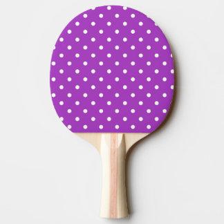 Dark Orchid Polka Dot Ping Pong Paddle
