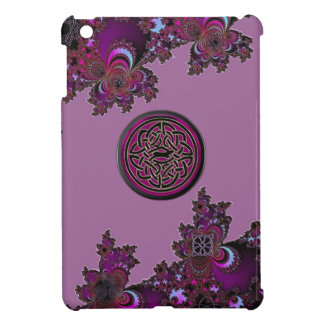 Dark Pink Celtic Fractal Design Cover For The iPad Mini