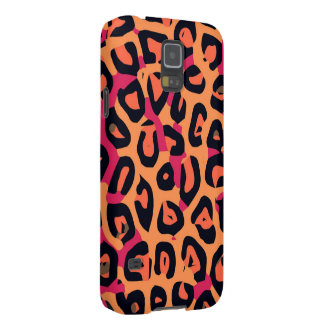 Dark Pink Yellow Orange Cheetah Abstract Galaxy S5 Covers