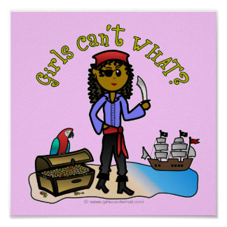 Dark Pirate Girl Poster