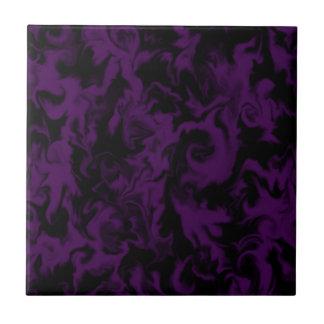 Dark Plum & Black mixed color tile