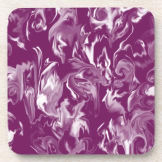 Dark Purple and White design mixed color coaster