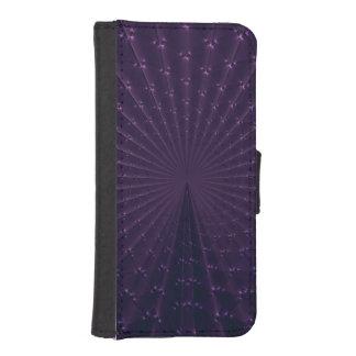 Dark Purple Fractal Peacock Feathers iPhone SE/5/5s Wallet Case