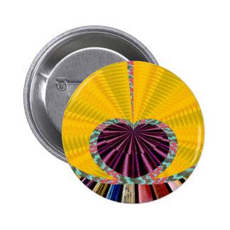 Dark Purple Heart in a Platter 6 Cm Round Badge