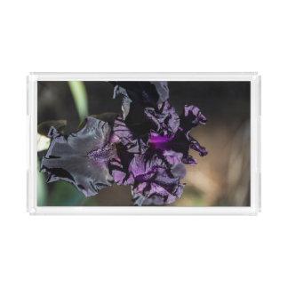 Dark Purple Iris Vanity Tray