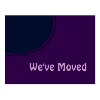 Dark purple modern Moving Announcement Postcard