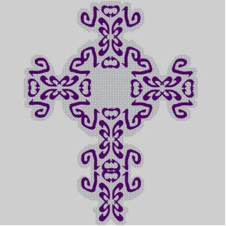 Dark Purple Scrolls Cross Acrylic Sculpture Cutout Photo Cutout