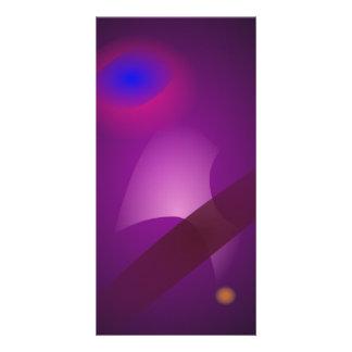 Dark Purple Space Custom Photo Card