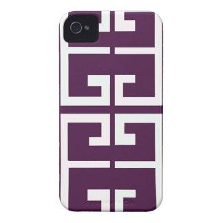 Dark Purple Tile Case-Mate iPhone 4 Case