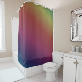 Dark Rainbow Tie Dye Shower Curtain