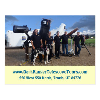 Dark Ranger Telescope Tours Staff Photo Postcard