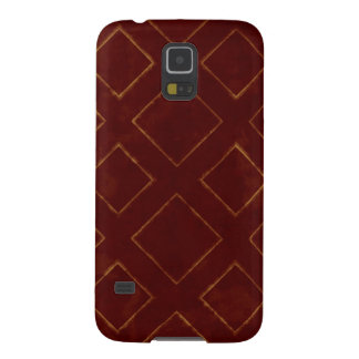Dark Red and Gold Diamond Pattern Galaxy S5 Cover