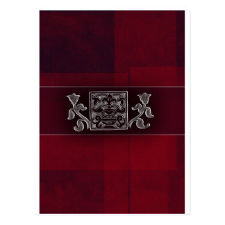 Dark red / marron - Indian accents Post Cards