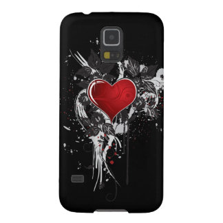 Dark Red Ornate Heart Galaxy S5 Cases