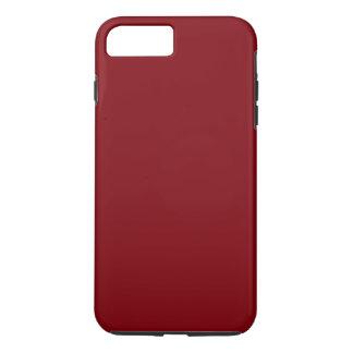 DARK RED solid colour coloration, dudes & iPhone 7 Plus Case