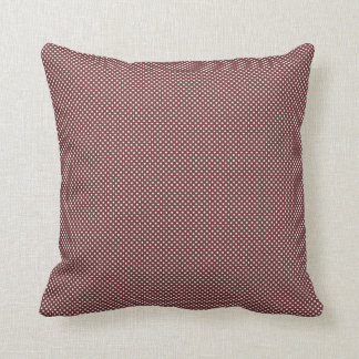 Dark Red With Simple White Dots Throw Pillow