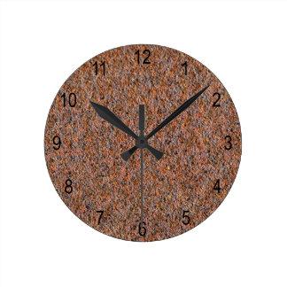 Dark rust round clock