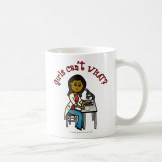 Dark Scientist Girl Basic White Mug