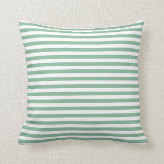 Dark Sea Green Horizontal Stripes Cushion