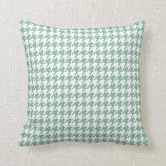 Dark Sea Green Houndstooth Throw Cushions