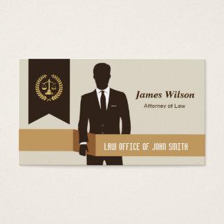 Dark Suit Faux Gold Libra Laurel Classic Lawyer Business Card