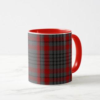 Dark Taupe Grey Red Black Giant Tartan Plaid Mug