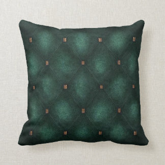 Dark Teal Quilted Look Cushion