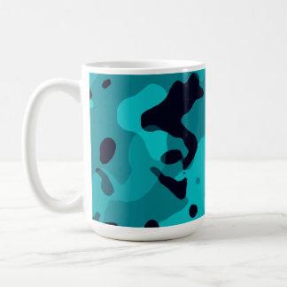 Dark Turquoise Camo; Camouflage Mugs