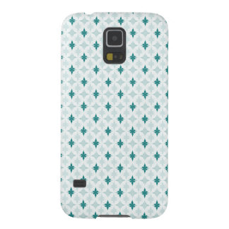 Dark Turquoise on White Galaxy S5 Cases