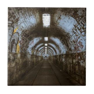 Dark underground tunnel ceramic tile