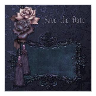 Dark Wedding Gothic Save the Date card