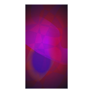 Dark Wine Simple Abstract Composition Customized Photo Card