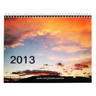 Dark Yellow Clouds 2013 Calendar
