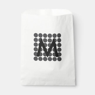 DarkGrey Dot Favour Bags