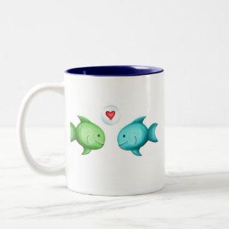 Darling Fish Two-Tone Coffee Mug