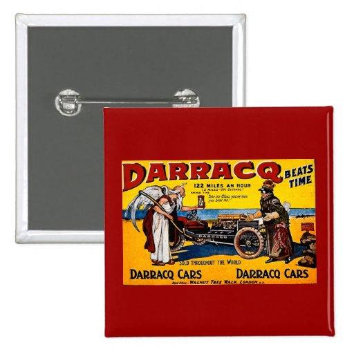 Darracq - Vintage Auto Advertisement Button