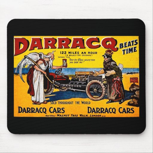 Darracq - Vintage Auto Advertisement Mouse Pads