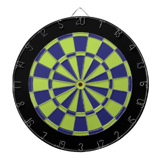 Dart Board: Lime Green, Navy Blue, And Black Dartboard