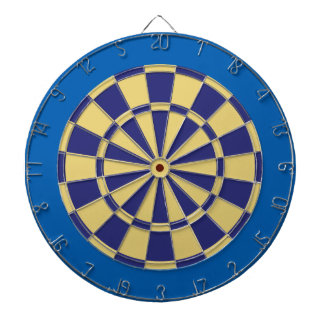 Dart Board: Old Gold, Navy, And Blue Dartboard