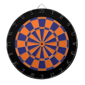 Dart Board: Orange, Navy, And Black Dart Boards