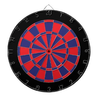 Dart Board: Red, Navy, And Black Dartboards