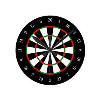Dart Board Round Clock
