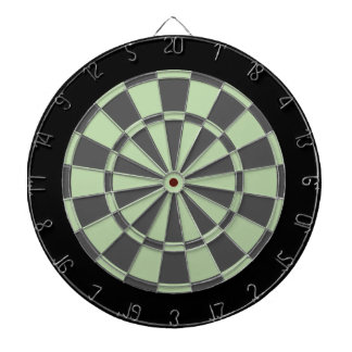 Dart Board: Sage, Charcoal Gray, And Black Dartboard