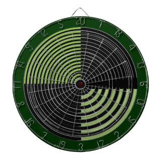 DART Chakra 109 Basket Weave Green n Black Dartboard