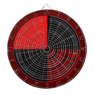 DART Chakra 111 Basket Weave Red n Black Dartboard