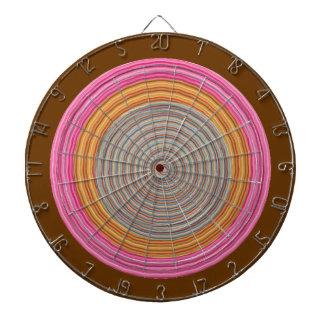 DART Chakra 114 Basket Weave Pink and Brown Dartboard