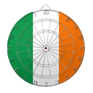 Dartboard with Flag of Ireland